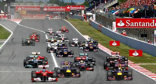 Départ GP Espagne 2011