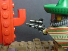 Space Cowboy (2) (DarthNick) Tags: fiction cactus cowboy lego space science mexican scifi sombrero revolver brickarms
