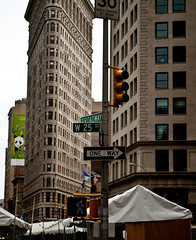 Broadway and W25th with the Flatiron building (They call me Mike D.) Tags: nyc newyorkcity iso200 nikon walk broadway f28 70mm 2470f28 hpexif d700 13200sec afsnikkor2470f28ged deletedbydeletemeuncensored