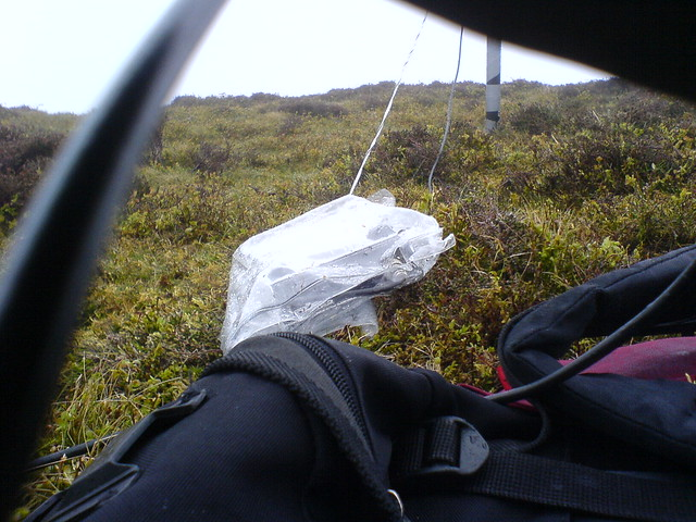 SG-211 autotuner in plastic bag, mast behind