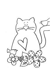 Risco Gatinho (Acrilex) Tags: artesanato animais artes bichinhos riscos acrilex