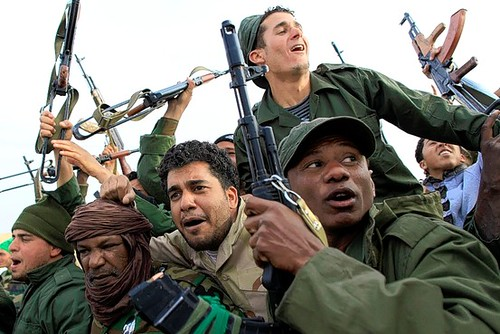 Libyan military forces are fighting to defeat the US/NATO-backed counter-revolutionaries who are acting in concert with the imperialist forces inside this North African state. The imperialists have been bombing the country for over three months. by Pan-African News Wire File Photos