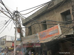 Wires!! - Streets scenes around the Chandni Chowk area - Old Delhi India (WanderingPJB) Tags: india olddelhi chandnichowk street backstreets narrow lanes alleys knots electricwires cables smileonsaturday knotsobad