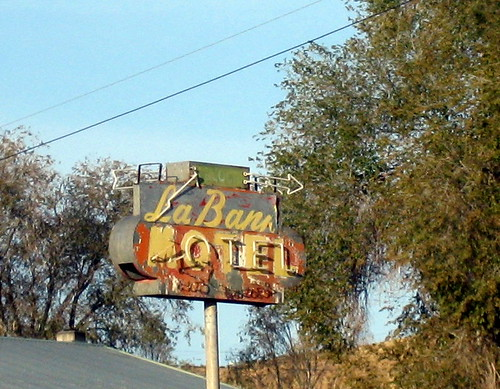 motel sign at Dry falls