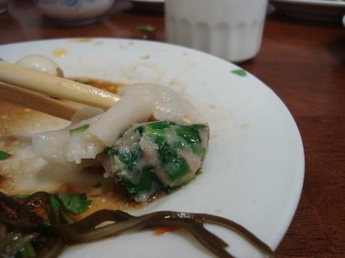 Pork dumpling interior