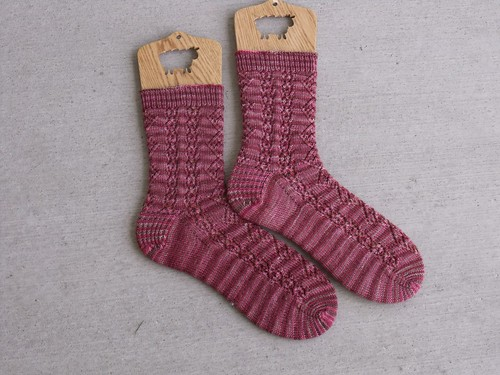 Raspberries & Chocolate Mallow Socks