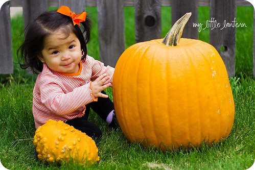 my little October pumpkin