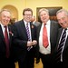 L-R Barry Johnson (FRB) with Gerry Sutcliffe, Minister for Sport, Keith Johnson and Robin Grossmith, both FRB