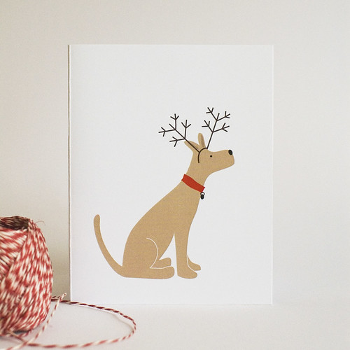 Printable Holiday Dog Card