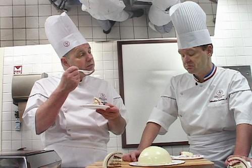(L) Chef Jacquy Pfeiffer; (R) Chef Sebastien Canonne