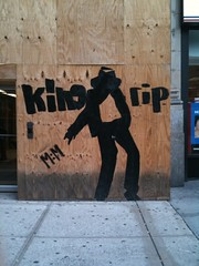 Minimalist Michael Jackson street art, 7th Ave