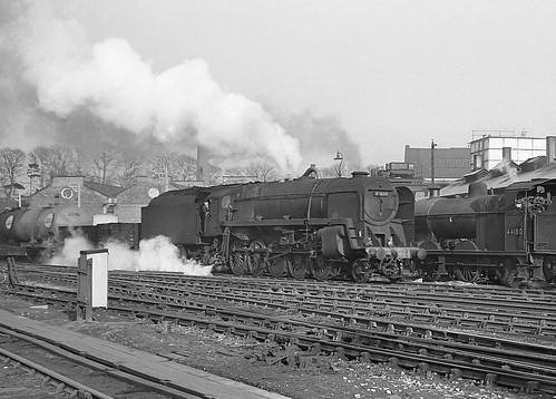 Class 9F. no.92050.  Bromsgrove. 2 March 1963