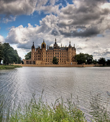 Castle in Schwerin/Germany (Werner Kunz) Tags: world city trip travel trees vacation sky lake holiday building castle water grass architecture clouds photoshop germany deutschland town nikon europe y wideangle german dri hdr hdri deutsch schwerin photomatix 20fav explored treeorange colorefex nikond90 topazadjust werkunz1