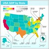 USA GDP by state 2.0 (Gabriel Gianordoli) Tags: usa illustration graphic map data visualization information vector infographic gdp