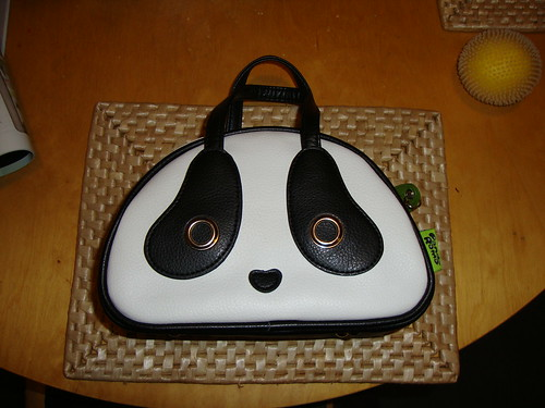 panda bag Pete bought me for Christmas
