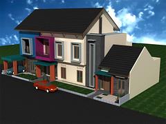 Tampak Depan Desain Rumah Sudut Minimalis 2 Lantai by Indograha Arsitama Desain & Build