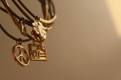 (Shadow ) Tags: light blur love golden focus key peace heart lock bracelets leav canon50d