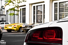 R8 + some diablos (Murphy Photography) Tags: lighting red summer white car yellow speed canon germany lens photography eos gold se golden europe shot time made nrw colored diablo audi rims tamron dsseldorf lamborghini supercar 60 murphy 44 vt rar lamo r8 lambo meilenwerk 50d 1750mm becklight