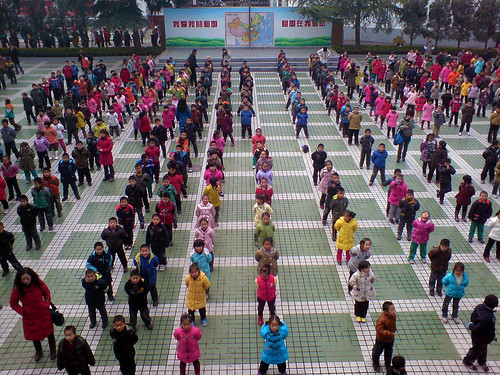 Beitang Students Exercising
