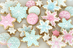 Pastel Snowflake Cookies (Glorious Treats) Tags: birthday snowflake christmas pink blue winter party white cookies cookie pastel sugar decorated