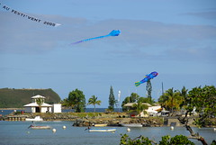 festi'vent 2009 (sekundo) Tags: blue fish kite festival port landscape vent boat flying wind air bateaux bleu ciel paysage poisson nouvellecaldonie newcaledonia 2009 cerfvolant voler festivent