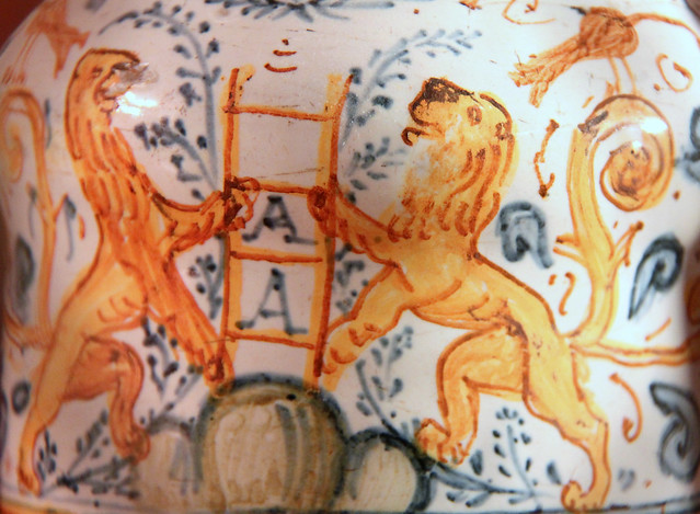 Lion on a medicine pot