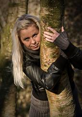 Hege (Oyvindi) Tags: autumn portrait woman girl pose norwegian autumncolors blonde canon70200f4is