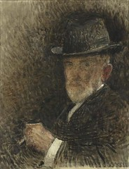 Lon Bonnat  Portrait de l'artiste au chapeau  en 1916  huile sur toile  H. 0.65 ; L. 0.5  muse d'Orsay, Paris, France (renzodionigi) Tags: portrait painting design engraving autoritratto ritratto arts fine selfportrait