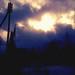 Die Sonne bricht durch die Wolken