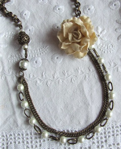 Antique Gold & Pearls...necklace