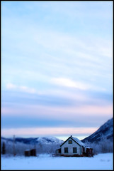 Cold morning in Carcross (Northwest haidaan) Tags: winter cold sunrise yukon 2009 carcross 30oc