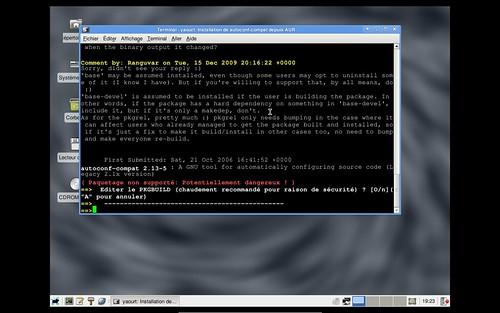 Installation d'autoconf 2.13 sur Archlinux