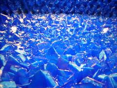 inside it was blue