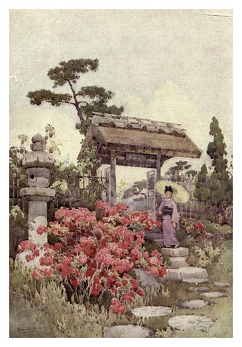 021-Azaleas-The flowers and gardens of Japan (1908)-  Ella Du Cane
