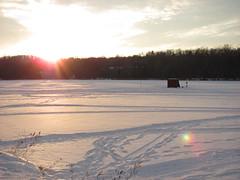 Sunset over the frozen lake (Pankaj Kulkarni) Tags: winter sunset frozenlake