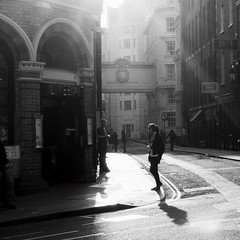 Brief Encounter (Ian Brumpton) Tags: street uk england blackandwhite bw london luz blackwhite interestingness noiretblanc unitedkingdom candid streetphotography monotone monochromatic explore londres shadowplay contrejour decisivemoment briefencounter streetphotographer explored scattidistrada