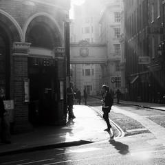 Brief Encounter (Ian Brumpton) Tags: street uk england blackandwhite bw london luz blackwhite interestingness noiretblanc unitedkingdom candid streetphotography monotone monochromatic explore londres shadowplay contrejour decisivemoment briefencounter streetphotographer explored scattidistrada