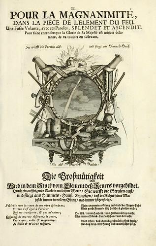003- Divisa del tapiz el fuego para la magnanimidad-Tapisseries du roy, ou sont representez les quatre elemens 1690- Sebastien Le Clerc