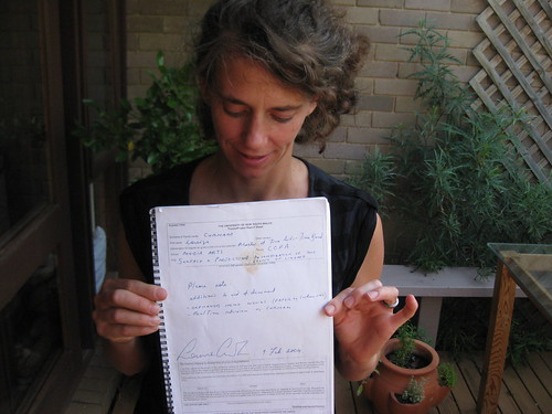 Louise Curham with thesis