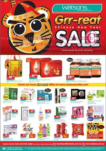 27 - 28 Jan: Watson CNY sale