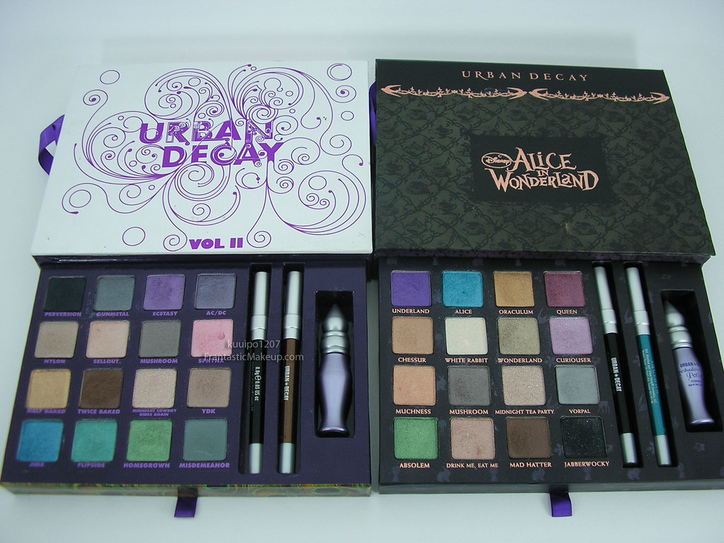 urban decay alice in wonderland vs book of shadows vol ii