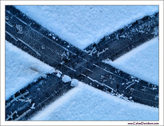 Saltire in the snow (ccgd) Tags: road winter snow car scotland highlands mark cromarty tyre