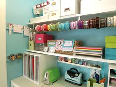 Inside closet (supershoppertoo) Tags: ikea yellow studio bright room craft storage ideas
