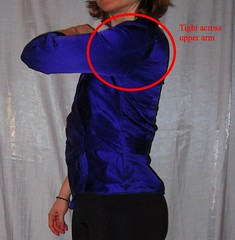 Tight Upper Arm (sewyerown) Tags: purple sewing tops blouses 7876 vogue7876 v7876