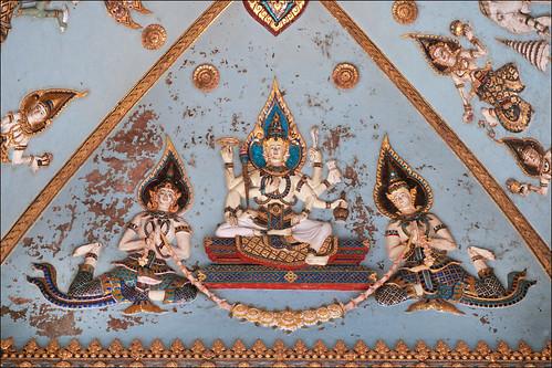 Vishnu (décor intérieur du Patouxai, Vientiane)