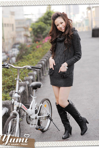 Sweater dress black
