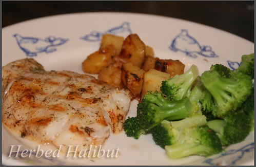 herbed halibut -cafe world