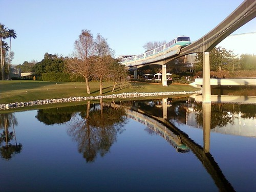 One of my favorite moments at EPCOT, the monorail gliding over