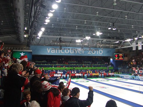 2010 Vancouver Olympics Culing Fans at Vancouver Olympic Centre