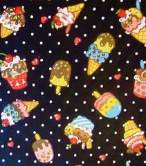Ice cream dreams in black (Bau de pano) Tags: cute panda pano artesanato craft kawaii patch patchwork bolsa fofo japones tecido necessaire importado